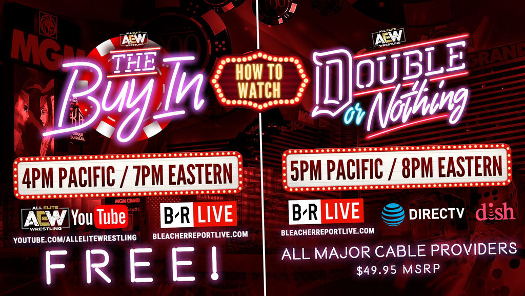 All Elite Wrestling Live Stream: Watch Double or Nothing Online