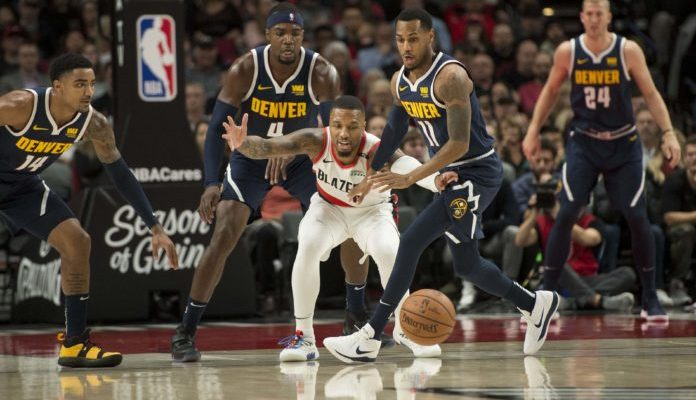 NBA Denver Nuggets Portland Trail Blazers