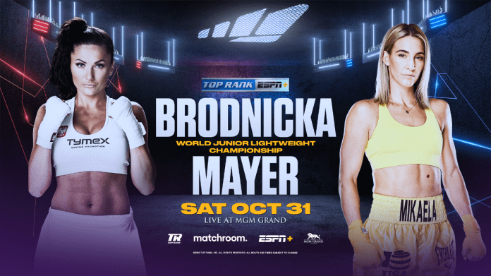 WBO | October 31: Mikaela Mayer to Challenge WBO Junior Lightweight World Champion Ewa Brodnicka as the Inoue-Moloney Co-Feature LIVE and Exclusively on ESPN+ - WBO