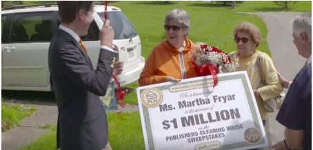 Fairmont Woman Wins PCH Publishers Clearing House Sweepstakes