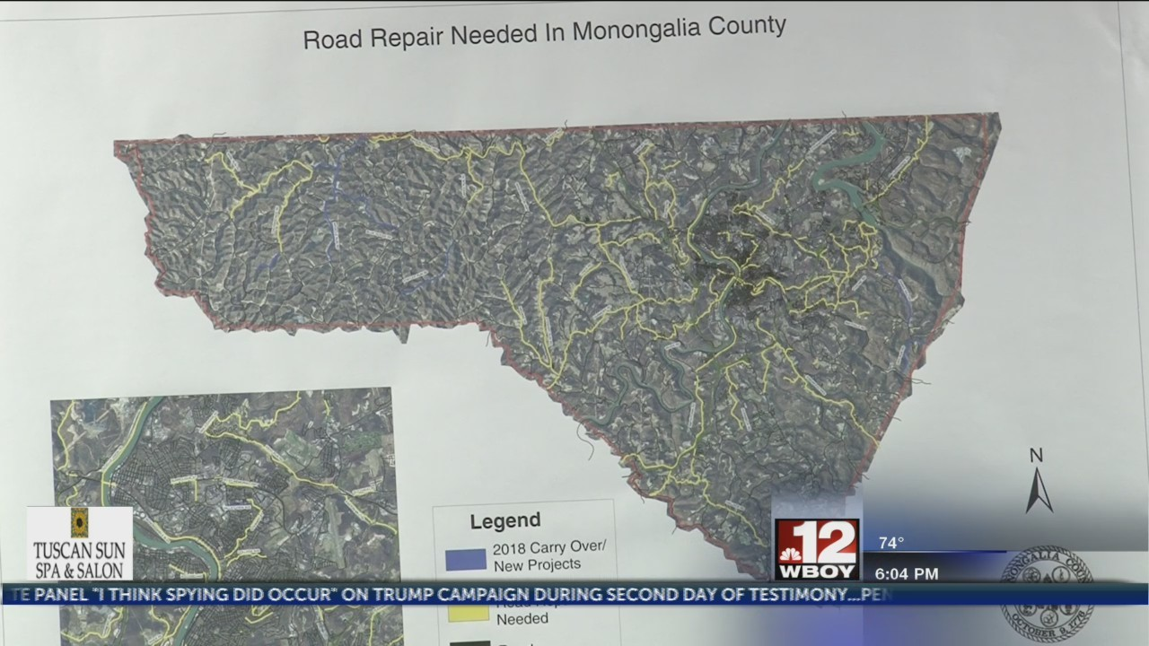 Monongalia County Commission looks to improve road conditions