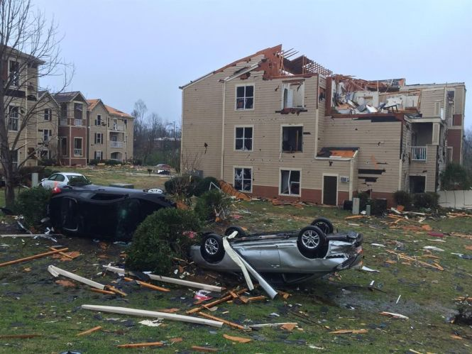 Likely Tornado Causes Significant