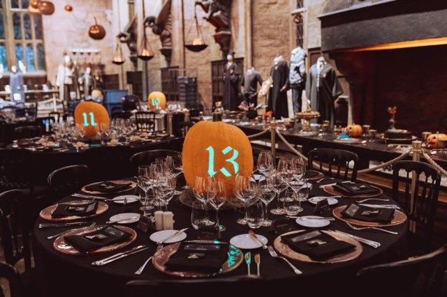 Hogwarts After Dark tavoli agli Studios di Londra