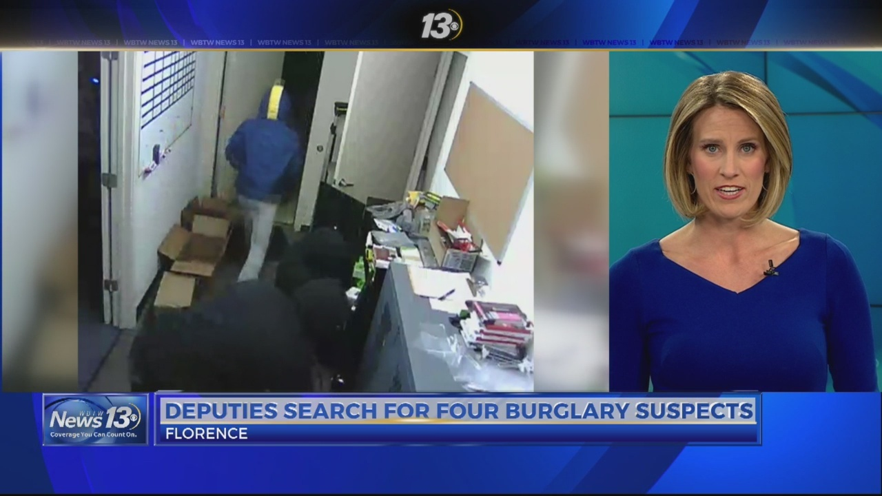 Deputies search for 4 burglary suspects