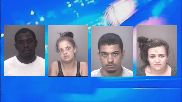 4 people charged after police seize drugs, firearms at