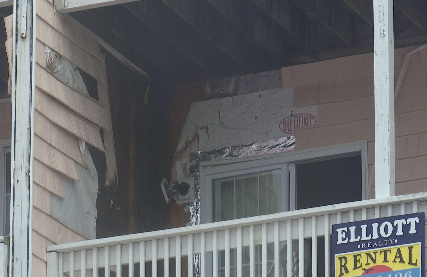 Lightning strike caused damage to North Myrtle Beach building