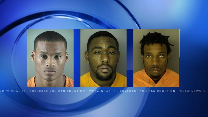 3 men get combined 88 years for shooting at police during