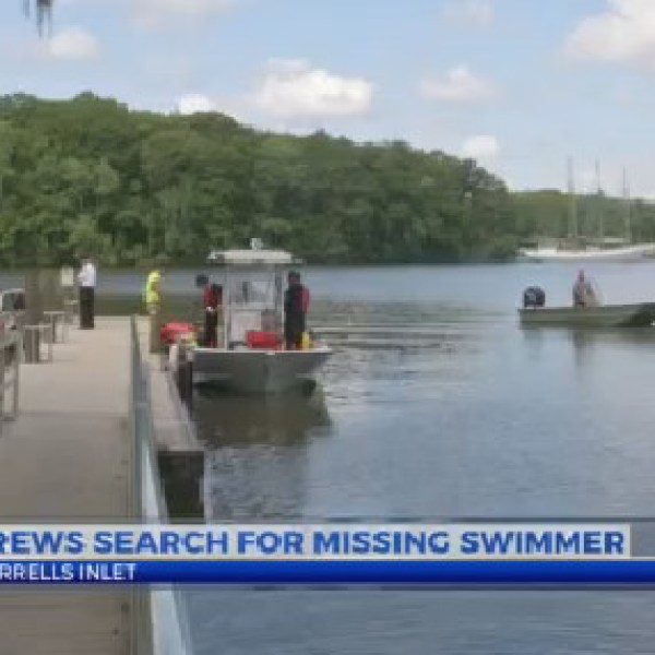 crews search for missing swimmer