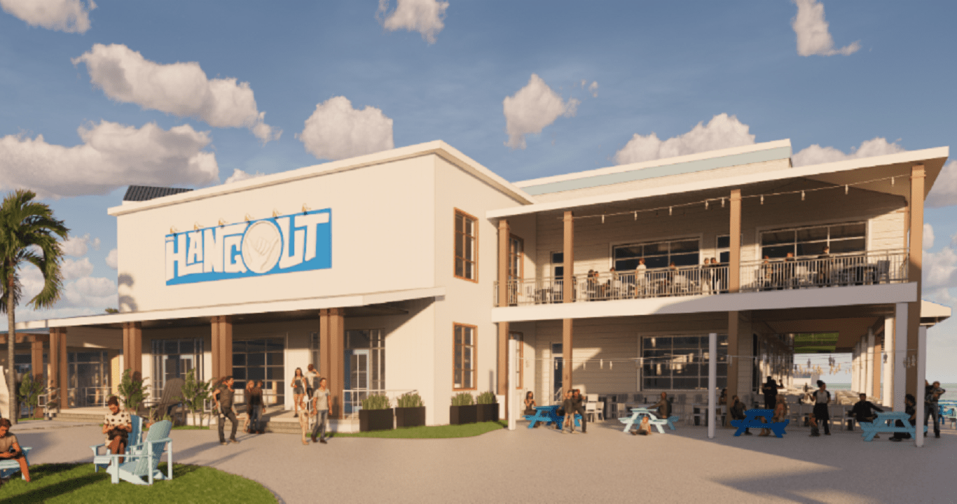 "Rendering of ""The Hangout"" business, which is set to open at Broadway at the Beach in late 2020. Photo courtesy: LHWH Advertising and PR."