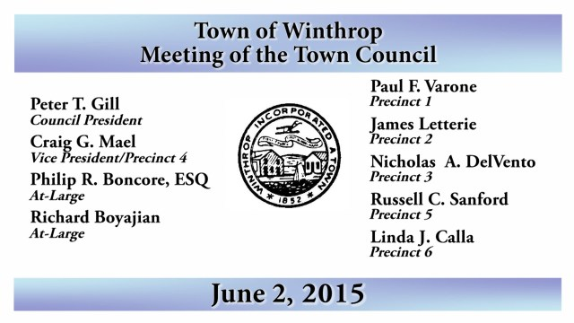 Winthrop Town Council Meeting, June 2, 2015