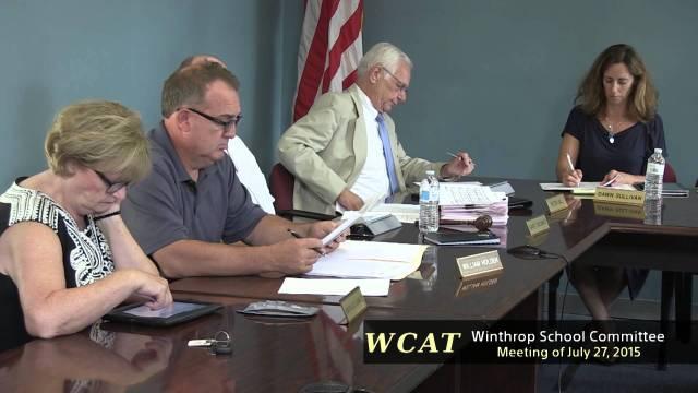 School Committee Meeting Of July 27, 2015
