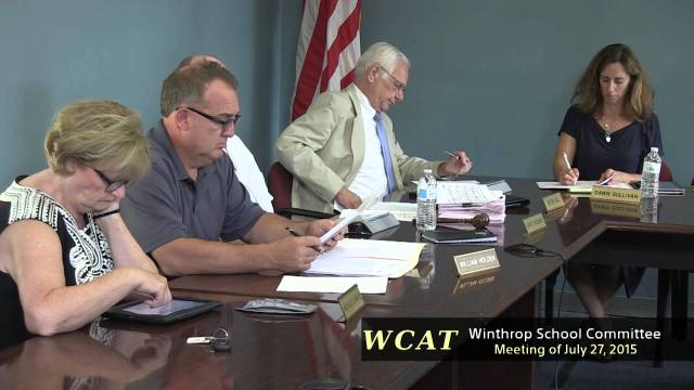 School Committee Meeting Of July 27, 2015