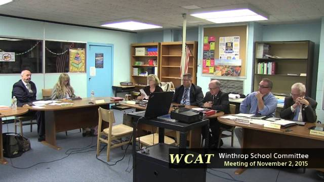 Winthrop School Committee Meeting of November 2, 2015