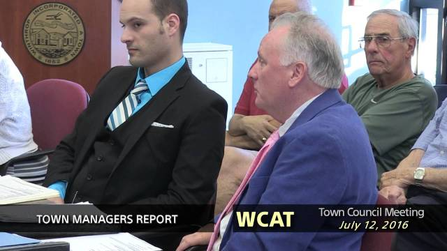 Winthrop Town Council Meeting of July 12, 2016