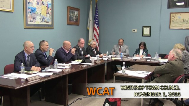 Winthrop Town Council Meeting of November 1, 2016