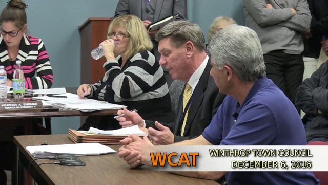Winthrop Town Council Meeting of December 6, 2016