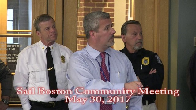 Sail Boston Tall Ships Community Meeting at MWRA, May 30, 2017