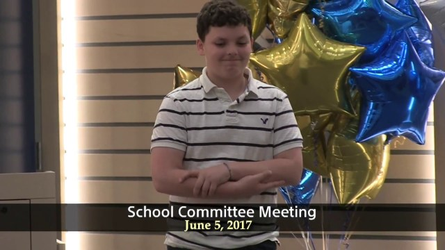 Winthrop School Committee Meeting of June 5, 2017