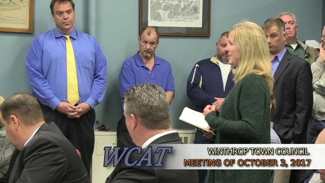 Winthrop Town Council Meeting of October 3, 2017