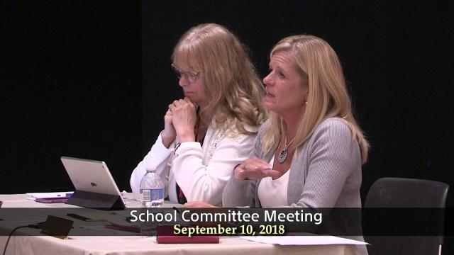 School Committee Meeting of September 10, 2018