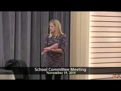 School Committee Meeting of November 19, 2018