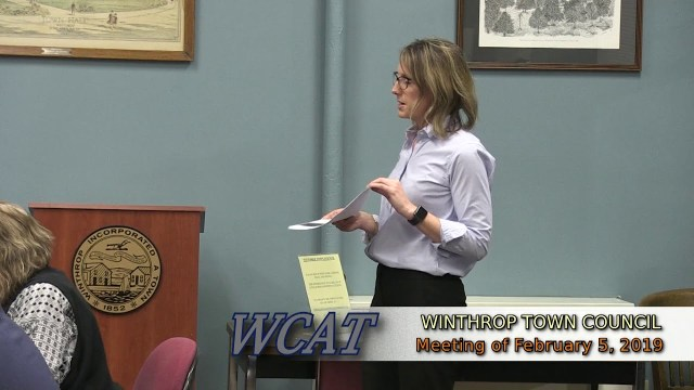 Winthrop Town Council Meeting, February 5, 2019
