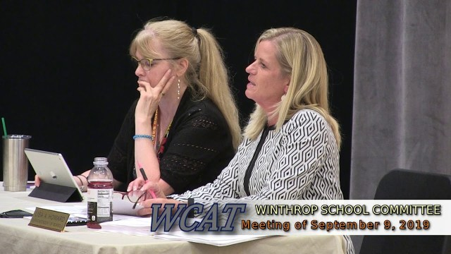 Winthrop School Committee Meeting of September 9, 2019