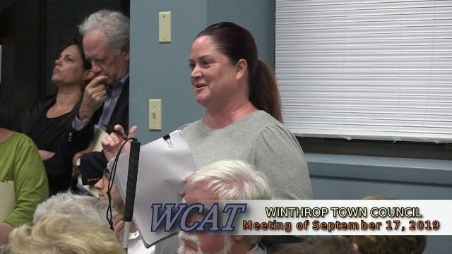 Winthrop Town Council Meeting of September 17, 2019