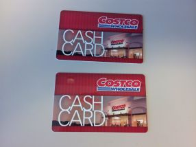 2 - $25 Cash Cards from Costco