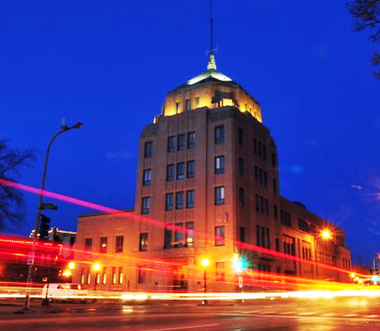 champaign city building night update generic