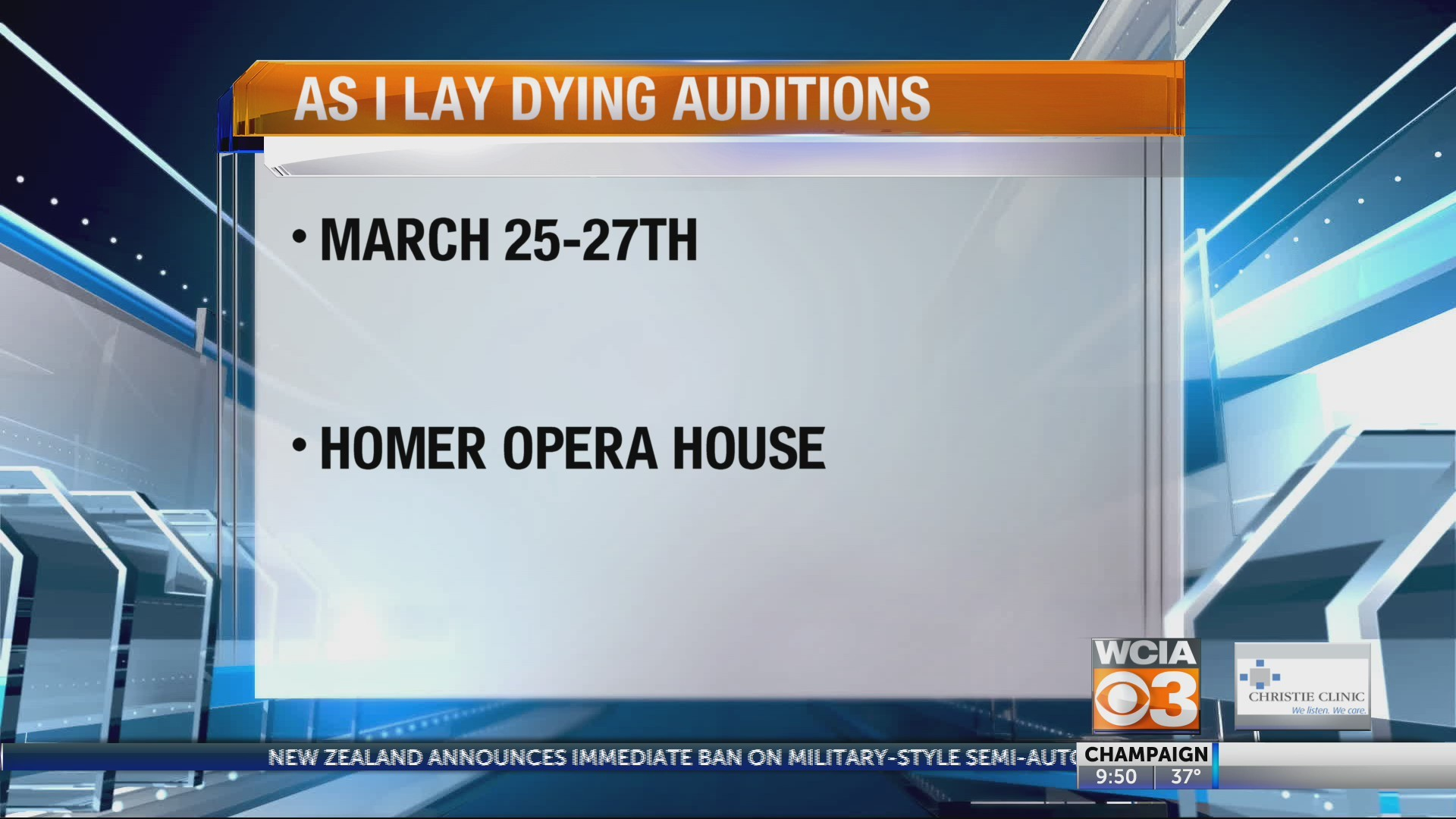 Auditions at the Homer Opera House