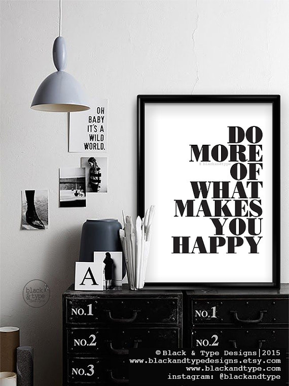 Motivational Black and White Typography Prints for Home or Office
