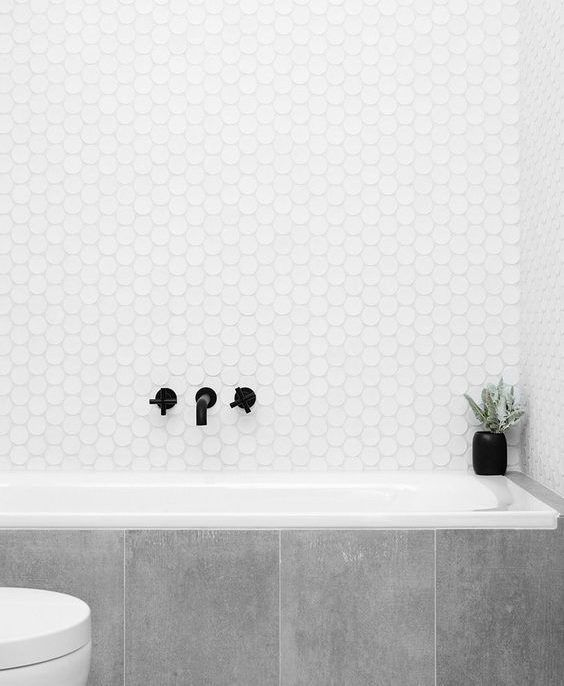 Small Hexagon Tile In Bathroom