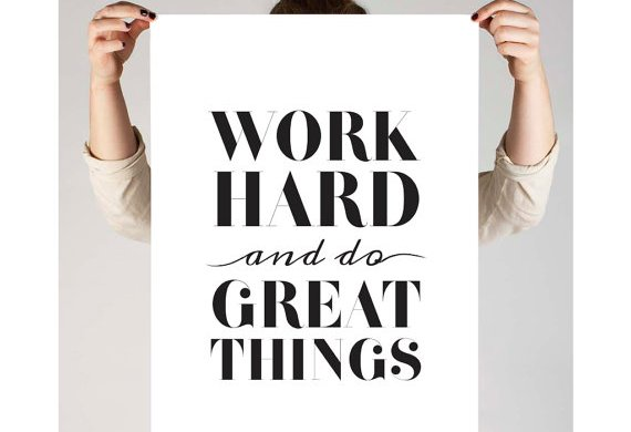 Motivational Typography Prints or Home or Office