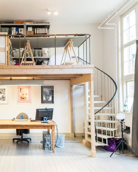 Office Space Converted Schoolhouse