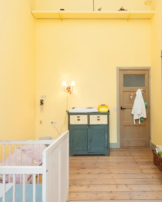 Yellow Nursery Coverted Schoolhouse