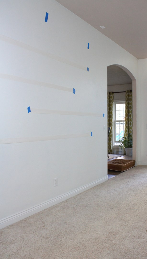 This big blank wall is dying for some attention, floating shelves where the perfect solution.