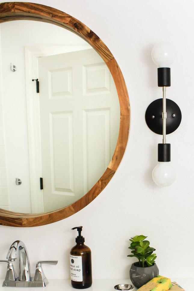 Modern Double Bulb Sconces in Chrome and Black
