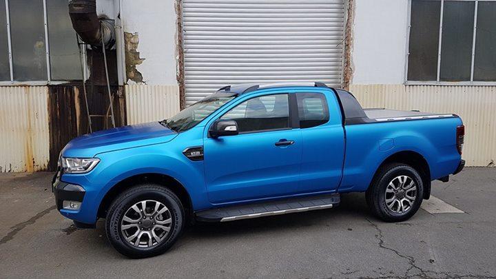 Ford Ranger Wildtrak 32 Folie Blau Matt Metallic