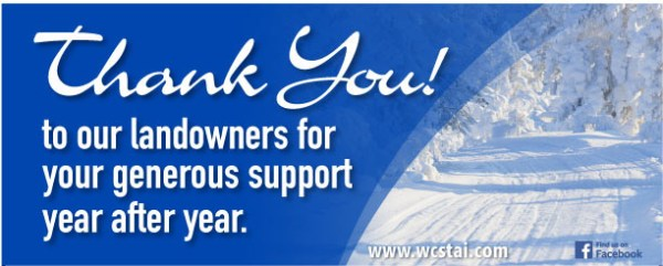 Thank you landowners from WCSTA!