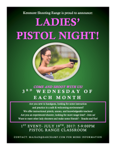 WCW Ladies' Pistol Night @ Pistol Range