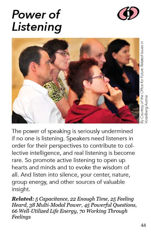 44 – Power of Listening