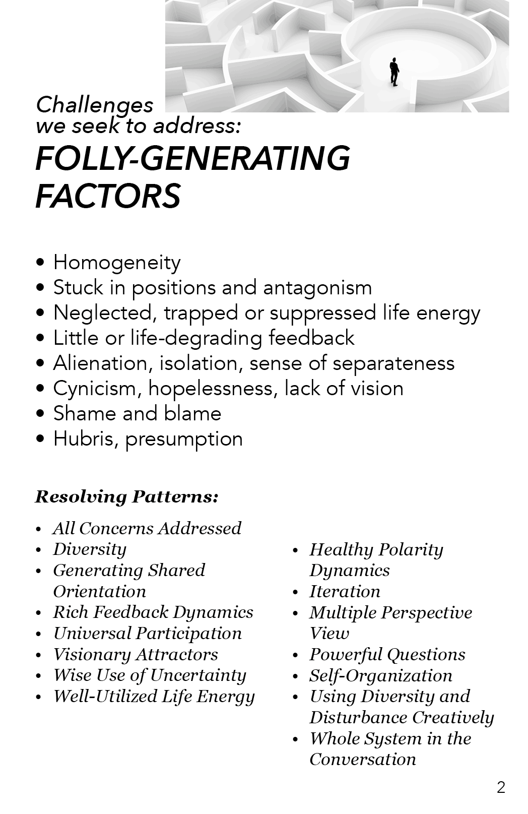 AAA - Folly Generating Factors