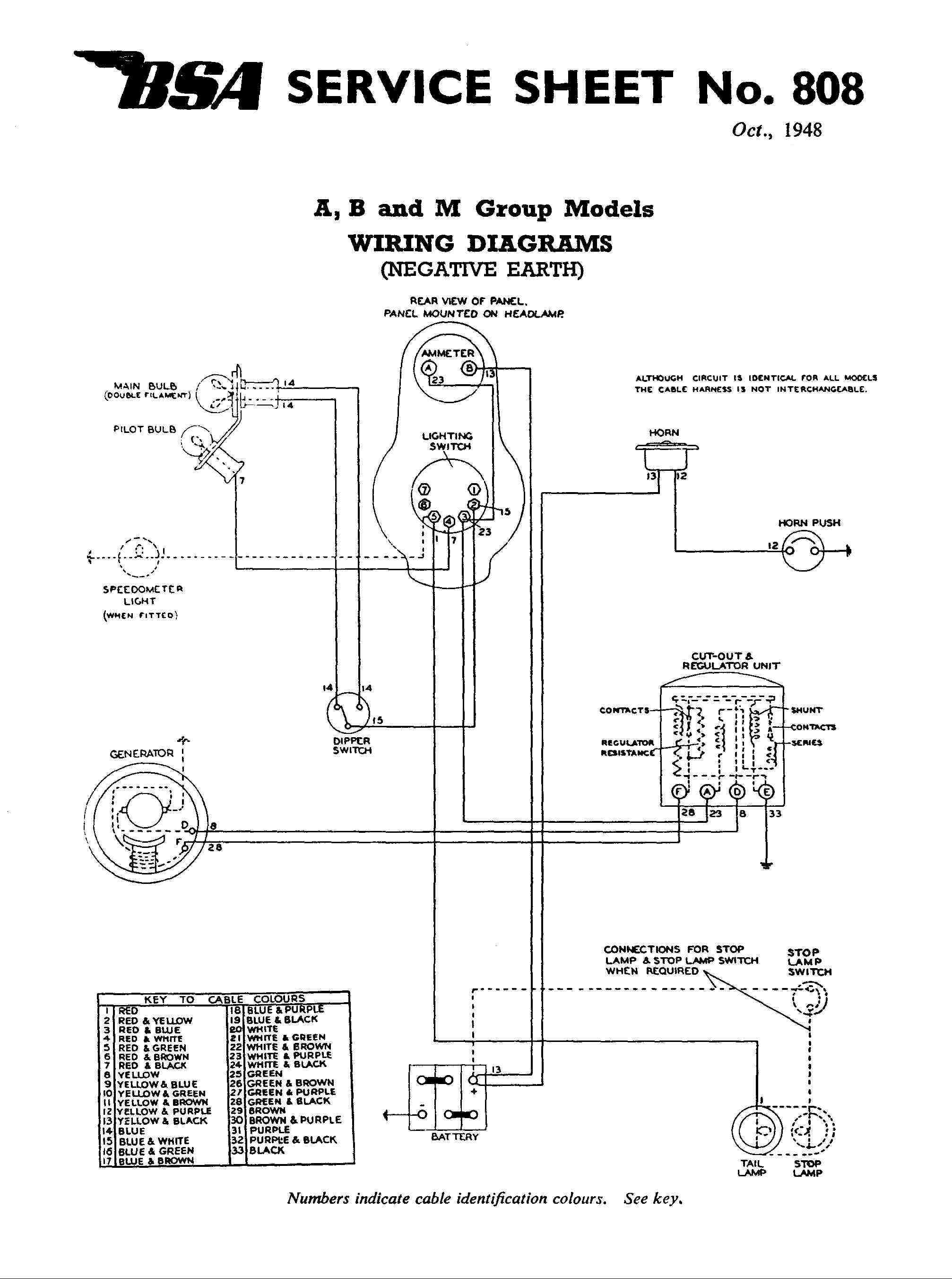 Positive Ground Wiring Diagram For Meter Free Download Image 12v Bsa A10 Third Level