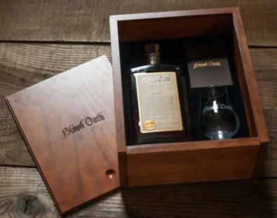 Fine finished box for Blood Oath Promotional Box with Glass