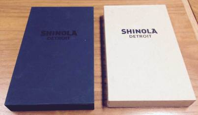 Shinola MinnMade Composite Retail Packages