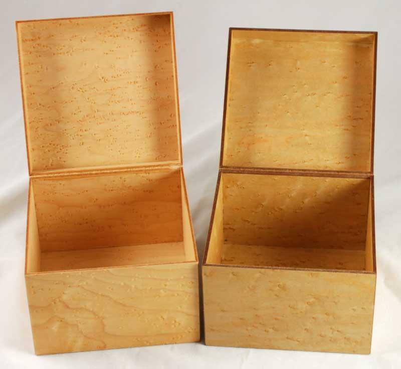 MinnMade Birdseye Maple Veneer composite box