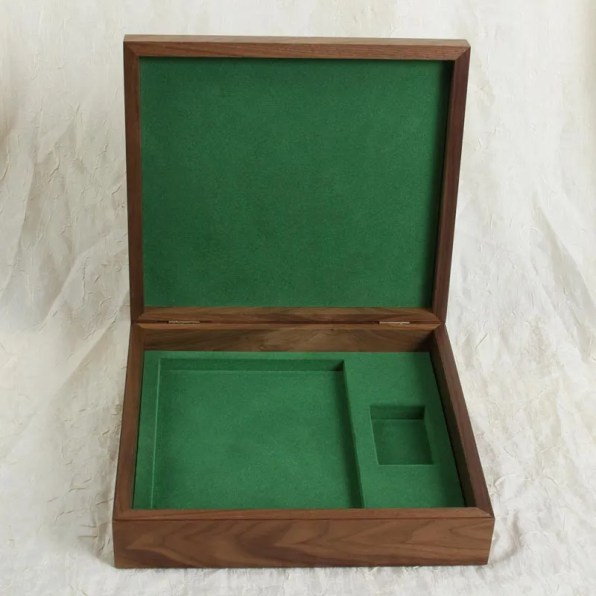 Wood box package with insert
