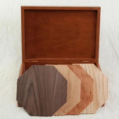 Wood sample package with wood samples