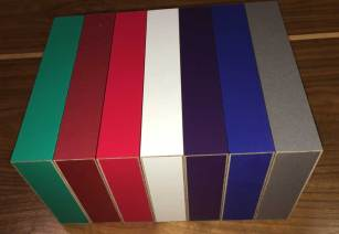 Multiple colors of MinnMade Boxes